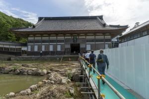 能登半島地震の修復糀が続く總持寺祖院